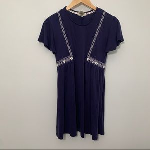 Altair's State Embroidered Short Sleeve Mini Embroidered Dress